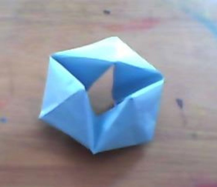 How to make a Pyramid out of Paper? Origami Tutorial for Beginners ... | 605x700