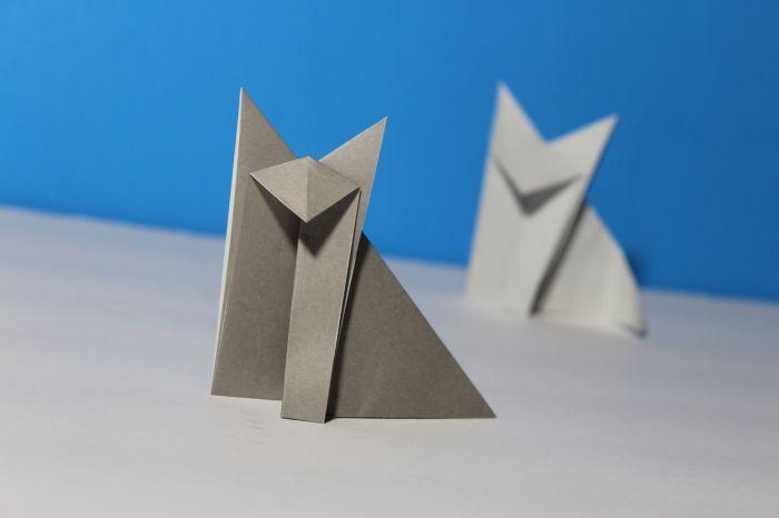 Origami Sitting Fox Instructions