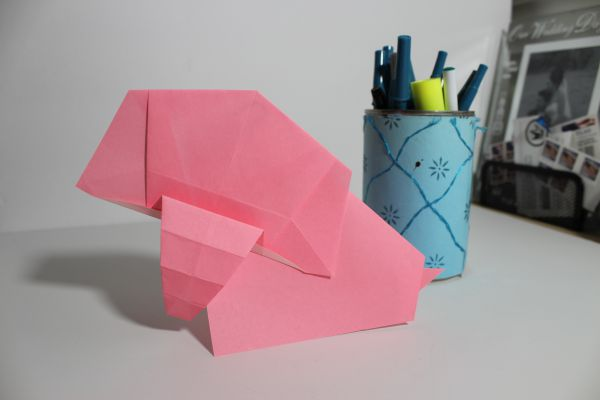 easy origami elephant instructions