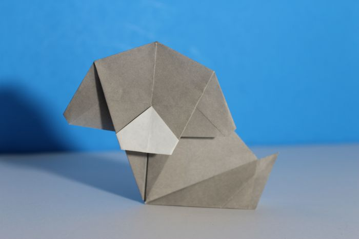 Origami Simple Looking Dog Instructions